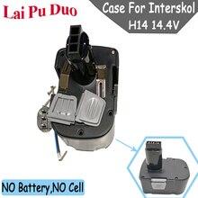 Para Interskol H14 14.4 V Ni CD Caixa De Plástico (Sem bateria Sem células) DA 13/14.4E Ferramenta De Poder Da Bateria Shell Capa
