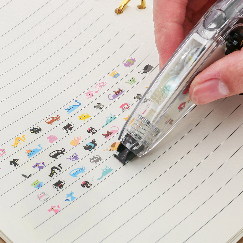 1PCS Creative Stationery Push Correction Tape Lace School Kids Students Gift Supplies Office Stationery Tool