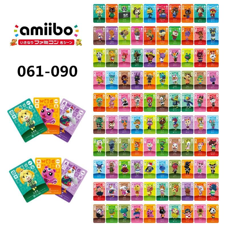 061-090 Nintend Amibo Amiibo Animal Crossing Switch Stickers Card Nintendo Amiibo Nfc Animal Crossing Nfc Ntag215 Series 1
