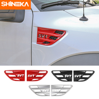 SHINEKA Sticker For Ford F150 ABS Fender Grille Vents Trim Cover Accessories For Ford F150 Raptor 2009 2014 SVT Letter Styling