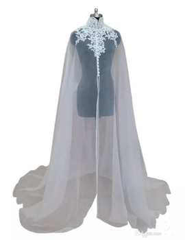 Lace Appliqued High Neck Wedding Wrap With Sleeveless Elegant Long Sheer Bridal Accessories Shawl Custom Made