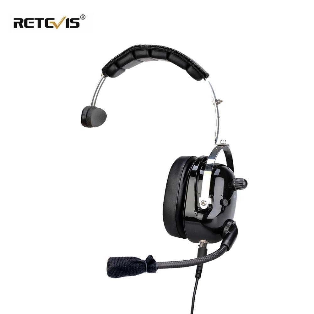 EHK005 2 Pin Noise Cancelling Walkie Talkie Single Headset Adjustable Volume For Kenwood Retevis Two-way Radio C9126A