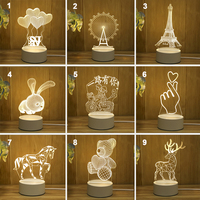 3D LED Lamp Creative USB Night Lights Novelty Illusion Night Lamp 3D Illusion Table Lamp For Home Decorative Light|LED Night Lights| |  -
