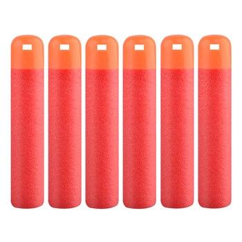 30 sztuk/partia 9.5cm czerwony karabin snajperski rzutki Christmas Gift kule dla Nerf Mega dzieci zabawki pianki napełniania rzutki Big Hole głowy kule