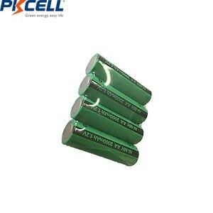 Image 2 - 4 adet PKCELL AA şarj edilebilir piller Ni MH 2000mAh 1.2V NiMH sanayi pil Bateria düz üst