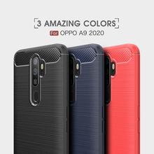 Мягкая обложка полная защита углеродного волокна TPU Силиконовый матовый телефона для OPPO 2020 А9 А8 А7 Reaime 1 2 3 4 х XT П17 15 11 9 случае