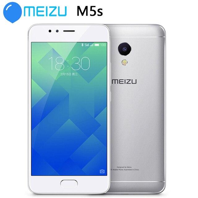 هاتف محمول MEIZU M5S MTK6753 5.2 بوصة ثماني النواة هاتف محمول شحن سريع جسم معدني واي فاي نظام تحديد المواقع