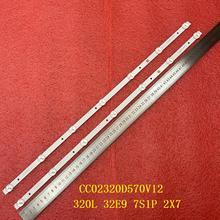 2 Stks/set Led Backlight Strip Voor Rca RTDVD3215 B Aoc T3211M 320L 32E9 7S1P 2X7 CC02320D570V12 08 02