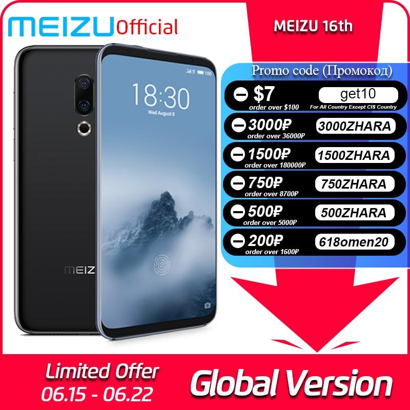 Meizu 16th 6GB 64GB Global Version Mobile Phone Snapdragon 845 Octa Core 16 th Smartphone In Screen Fingerprint|Cellphones|   - AliExpress