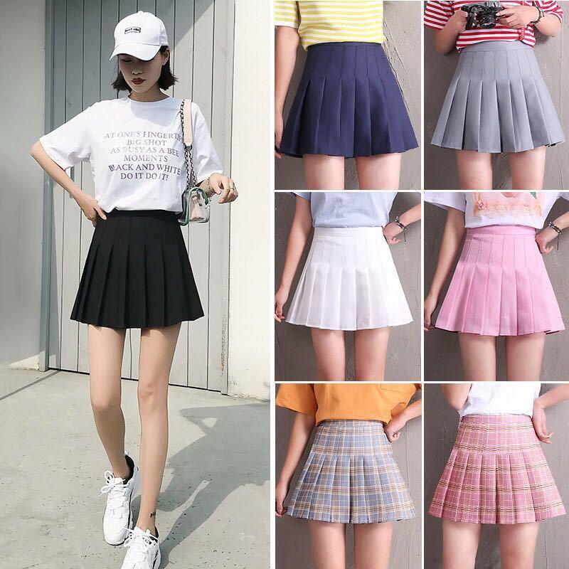 Girl Pleated Tennis High Waist Skirt