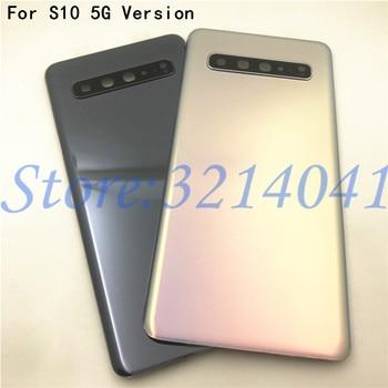 Para Samsung Galaxy S10 5G G977 G977F 5G, versión de la batería, cubierta trasera, cristal trasero con lente de cámara