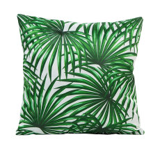 fashionable green leaves pattern home chair cushion covers 45*45cm without inner thick silk imitation decorate pillow X96