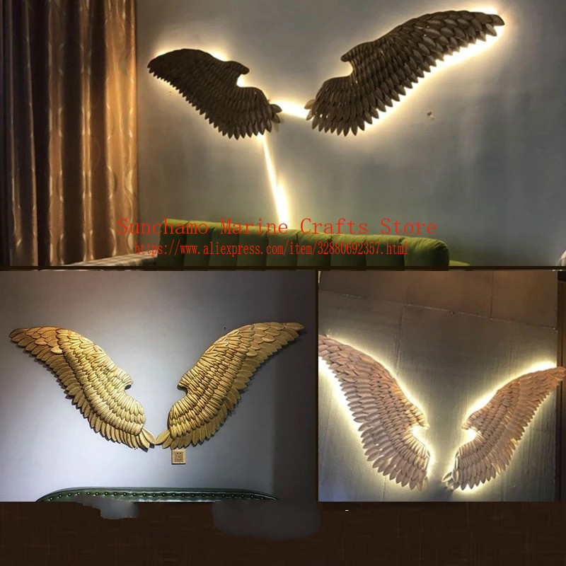 gold mirror wall decor.htm retro industrial wind decoration wall hanging iron angel wing wall  decoration wall hanging