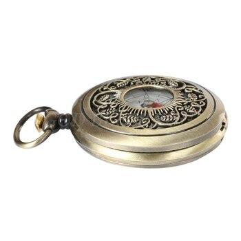 Vintage Bronze Compass Pocket Watch Design Outdoor Hiking Navigation Kid Gift Retro Metal Portable Compass Drop Shipping 5