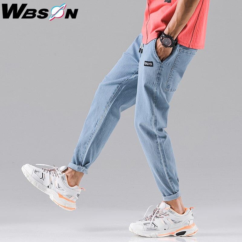 Wbson, джинсы, мужские, модные, деним, для пробежек, джинсы, брюки, мужские, синие джинсы, повседневные штаны, тонкие джинсы для мужчин, SYG2310|Джинсы|Мужская одежда - AliExpress