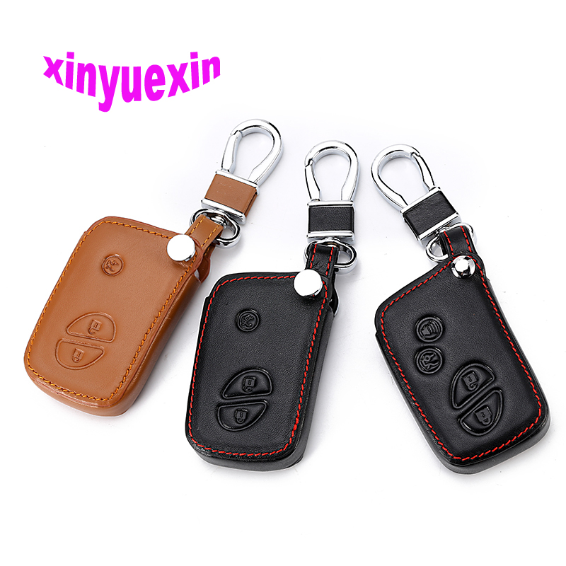 Xinyuexin Leather Car Key Cover Fob Case For Lexus ES 300h 250 350 IS GS CT200h RX CT200 ES240 GX400 LX570 RX270 Key Jacket