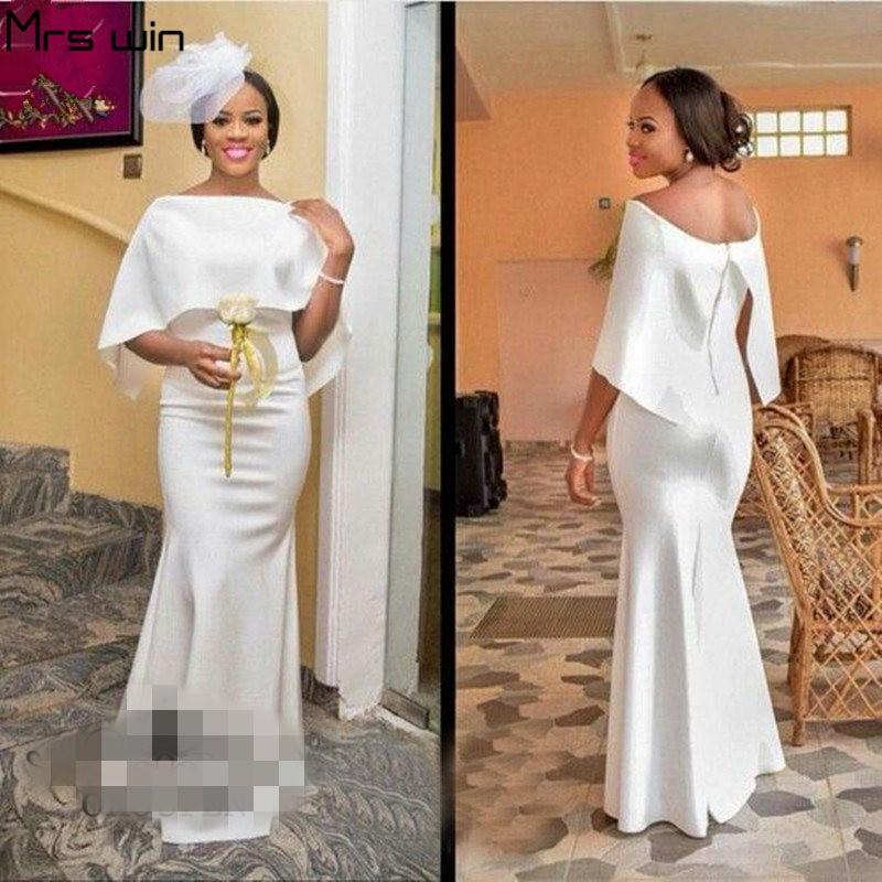 Mrs Win Bridesmaid Dress Under 50 Shawl Elegant Vestido Madrinha Off Shoulder Mermaid Long Wedding Party Dresses For Girls HR053