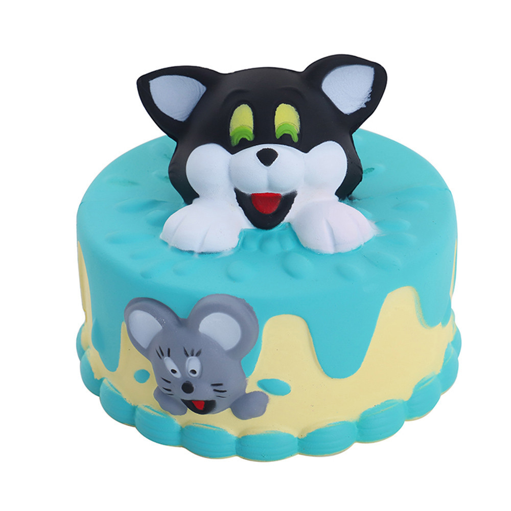 Cute Cartoon Cake Decor Slow Rising Kid Anti-anxiety Gift Slow Rebound Antistress Toys Stress Relief Children Funny Gadgets #B
