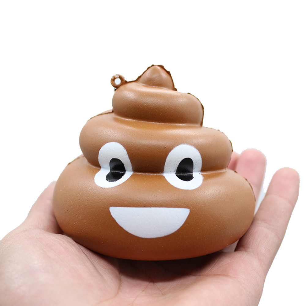 Squeeze Poo Slow Rising Fun Toy Relieve Stress Cure Prank Poop Toy Decompression Stress Soft Squeeze Fun Toys #A