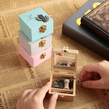 Eight Tone Box Wooden Christmas Plant Gift Ornaments Creative Home Decoration Festival Keepsake Birthday Kids Music Box