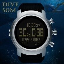 الرجال غواص ساعة مقاوم للماء 100 متر ساعة رقمية ذكية الرياضة العسكرية الجيش ساعة غوص مقياس الارتفاع بارومتر البوصلة ساعة NORTHEDGE
