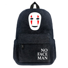 New Spirited Away No Face man Cartoon Anime Schoolbag Satchel Student Canvas Backpack Bags Purse Teenagers Travel Bags Gifts(China)