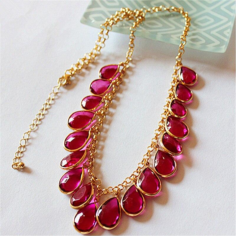Новое модное женское ювелирное изделие, оптовая продажа, красивые вечерние ожерелья для девочек, изысканный подарок, смешанное ожерелье розового цвета|Цепочки|   | АлиЭкспресс
