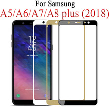 9D Full Protective Glass on For Samsung Galaxy J4 J6 A6 A8 Plus A5 A7 J7 J8 2018 Glas Tremp A750 A730F Samsun Sumsung Galaxy-in Phone Screen Protectors from Cellphones & Telecommunications on AliExpress