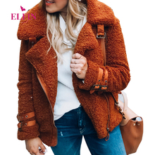 Zipper Long Sleeve Turn Down Collar Warm Autumn Winter Steampunk Women Bomber font b Jackets b