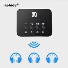 Kebidu البسيطة البصرية جهاز إرسال بلوتوث Aptx 1 إلى 3 متعددة زوج للتلفزيون وصلة مزدوجة اللاسلكية الموسيقى محول الصوت للمتكلم