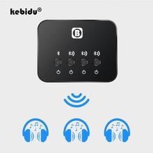 Kebidu Mini transmisor óptico con Bluetooth, adaptador de Audio y música Aptx de 1 a 3, multipar para TV, enlace Dual, inalámbrico