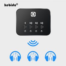 kebidu Mini Optical Bluetooth Transmitter Aptx 1 to 3 Multi pair for TV Dual Link Wireless Music Audio Adapter for Speaker