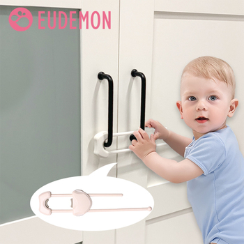 EUDEMON Drawer Door Cabinet Cupboard Safety Locks Baby Kids Safety Care Plastic U Shaped Locks Infant Baby Protection fa 92 baby infant child multi function rotatable drawer safety locks white