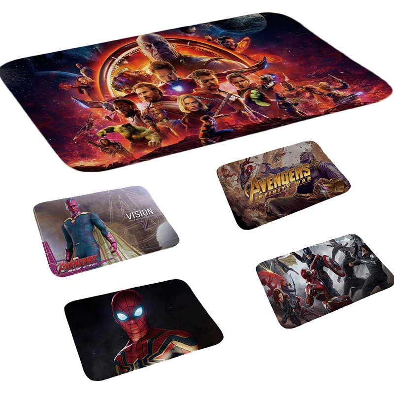 Marvel Toys The Avengers Plush Carpet Iron Man Captain America Batman Rug Cotton Christmas