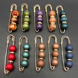 Image 2 - Strass robe à broches en perles colorées de décoration, broches de sécurité avec boucle, broches bijoux pour col de chemise, accessoires