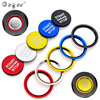 Ceyes Car Styling Stickers For Audi A5 A7 Q3 Q5 Q7 8R A4 B9 Auto Start Stop Engine Button Ring Covers Case Circle Accessories