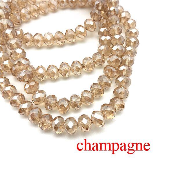 2X3/3X4/4X6/6X8 мм хрустальные бусины AB разноцветные стеклянные бусины Sapcer для ювелирных изделий ручное кольцо Ожерелье Изготовление DIY - Цвет: Champangne