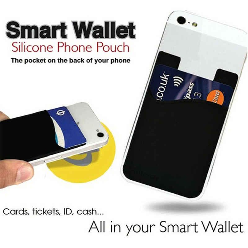 2 חתיכות 2PCS אוניברסלי רך סיליקון דבק מדבקה לשימוש חוזר חזרה כיסוי כרטיס מקרה מחזיק פאוץ עבור טלפון סלולרי