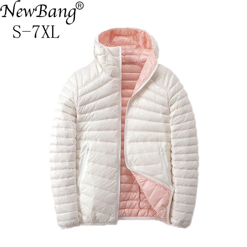 NewBang 6XL 7XL Down Jackets Women Ultra Light Down Jacket Women Feather Jackets Double Side Reversible Lightweight Warm Coats|Down Coats| - AliExpress