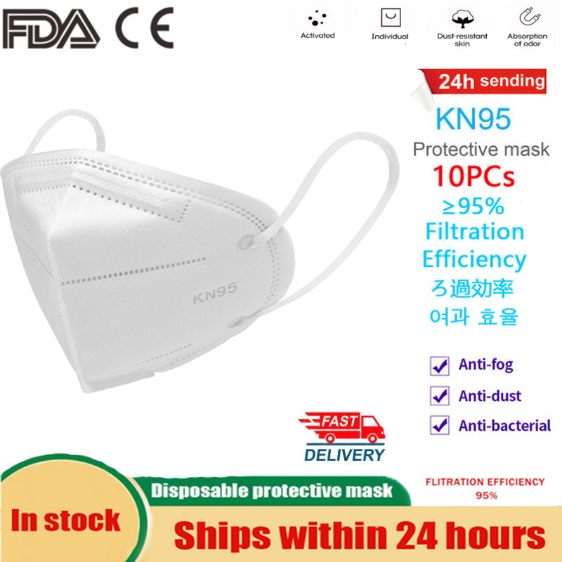 10Pcs Masks KN95 Mask N95 FFP3 Ffp2 Protective Mask Respirator Safety Masks 99% Filtration Dust Particulate Pollution Protection