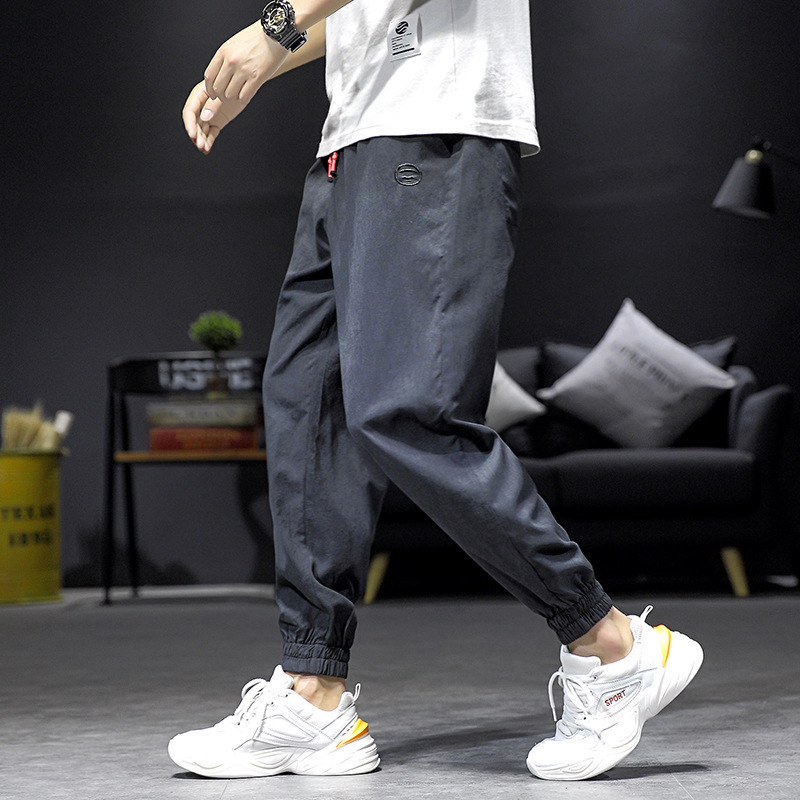 Summer Thin Section Pants Men's Korean-style Trend Casual Pants Loose Capri Pants Popular Brand Ankle Banded Pants MEN'S Overall