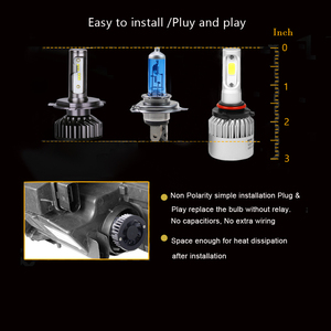 Image 4 - PANDUK H7 LED H4 ZES 18000LM في Canbus H11 H8 H1 HB3 9005 9006 LED HB3 LED مصباح أضاءه أمامي Led أضواء ل سيارة 80W 6000K 8000K 12V