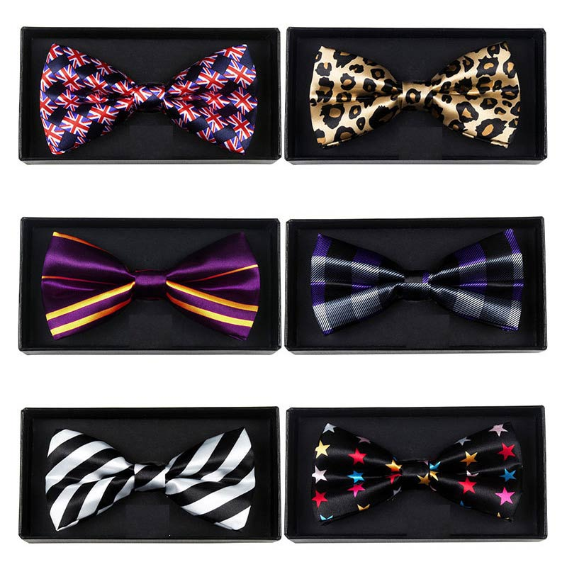 Adjustable Men's Bow Tie Plaid Polka Dots Striped Pre-tied Tuxedo Butterfly Bowtie Formal Neck Ties Wedding Party Accessories