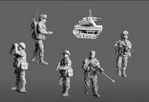 1:72 Modern Military Russian Special Forces 5 Search Soldiers Miniatures Unpainted Assembling Static Figure Resin Model Kits