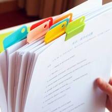 6 pçs colorido decorativo escrita foto clipes de papel acessórios de escritório material escolar papelaria para o estudante crianças