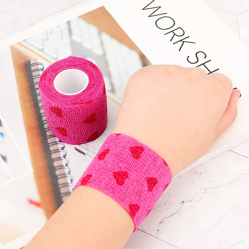 Tattoo Accessories Self Adhesive Wrap Bandage Tape Pet Flexible Cartoon Printed First Aid 5cmx4.5m