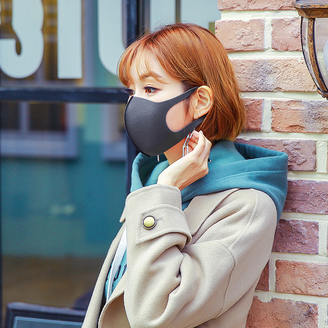 10 / 20 Pcs Washable Mask Mouth Reusable Black Cotton Cloth PM25 Filter Respirator Dust Proof 3D Face Masks FPP2 Adult PM 2.5 5