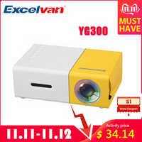 Excelvan YG300 YG200 projecteur LCD Portable 320x240 MAX 1080P avec entrée HDMI USB AV SD pour théâtre privé/éducation des enfants