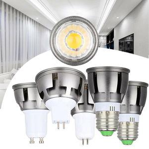 Затемнения светодиодный лампа направленного света COB GU10 MR16 GU5.3 E27 6 ваттов 9 ваттов 12 ваттов светодиодные лампы теплый белый свет, холодный бе...