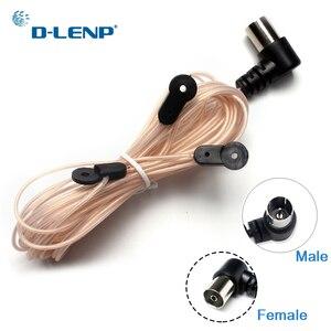 Image 1 - Dlenp antena dipolowa wewnętrzna miedziana antena hd Radio T kształt męski/żeński złącze PAL 75 OFM zastosowanie do YAMAHA AM/FM